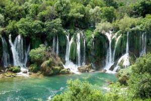 The cascades Kravica on the river Trebižat